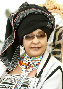 Nelson Mandela's ex-wife Winnie Madikizela-Mandela arrives at a ceremony to honour Mandela by the African chiefs, kings and queens at Freedom Park in Pretoria November 5, 2009. Freedom Park is a memorial for those who sacrificed their lives for the freedom of South Africa. REUTERS/Siphiwe Sibeko (SOUTH AFRICA SOCIETY)