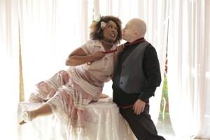 Khutjo Green and Craig Morris in Tartuffe. Photo credit: Dee-Ann Kaaijk.