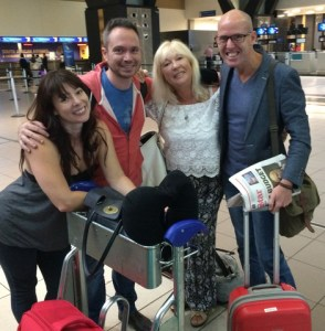 Off to Russia – (L-R) Jenna Galloway, Garth Travares, Delia Sainsbury and Paul Griffiths.