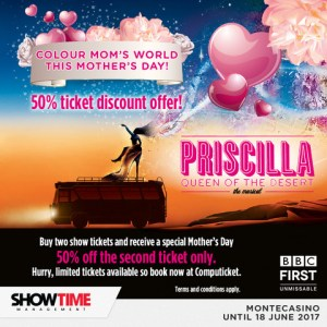 MOTHER'S DAY OR ANY DAY, DON'T MISS THE PRISCILLA BUS