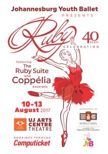 The Johannesburg Youth Ballet (JYB) proudly presents Ruby Celebration from 10th – 13th August at UJ Arts Centre Theatre marking 40 years of the JYB.