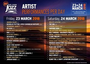 CTIJF Artist Lineup 2018