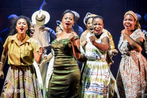 Rushney Ferguson, Edith Plaatjies, Barileng Malebye and Lungelwa Mdekazi in KING KONG - THE MUSICAL. Photo credit: Daniel Rutland Manners.