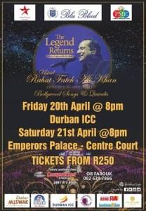 Bollywood musical legend Rahat Khan comes to SA