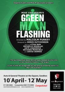 Green Man Flashing Sandton Poster