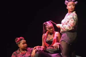 Thuli Sibisi, Siphelele Mbatha and Buhle Ntusi in Macbeth.