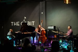 Bokani Dyer Trio at The Orbit. Photo by Siphiwe Mhlambi