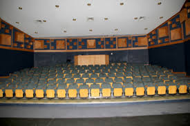 The theatre at the Mmabana Arts Centre which has been destroyed in violent protests against North West Premier Supra Mahumapelo.