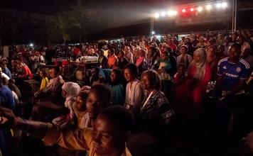 Audience members at the Zanzibar International Film Festival 2015. Copyright 2015, Peter Bennett.