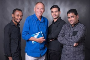 Into The Grey: Menzi Mkhwane, Ralph Lawson, Rory Booth and Ashwin Singh. Pic: Val Adamson