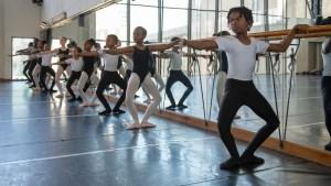 Joburg Ballet School: Group at the barre (Photo: Lauge Sorensen)