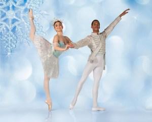 Joburg Ballet: Savannah Ireland & Mahlatse Sachane as the Snow Queen & her Cavalier in The Nutcracker (Photo: Lauge Sorensen)