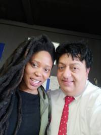 Refiloe Lepere with Renos Spanoudes