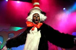 Katlego Nche as The Cat in the Hat in Seussical Jr. Photo: Sean McGrath.