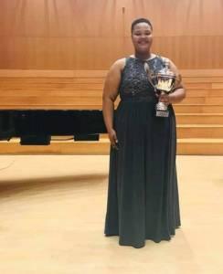 1st Prize Winner of R30 000, Lebogang Polori (Mezzo Soprano)