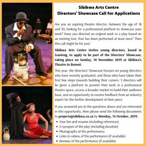 Sibikwa Directors' Showcase