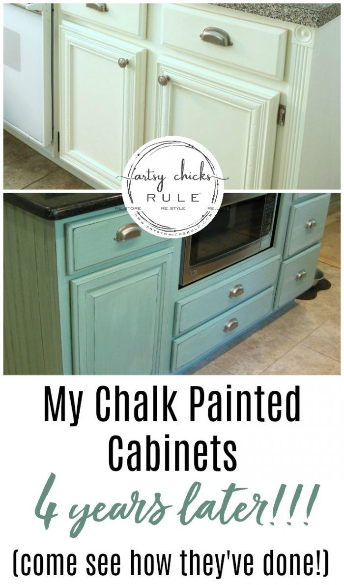 My Chalk Painted Cabinets 4 Years Later How Did They Do