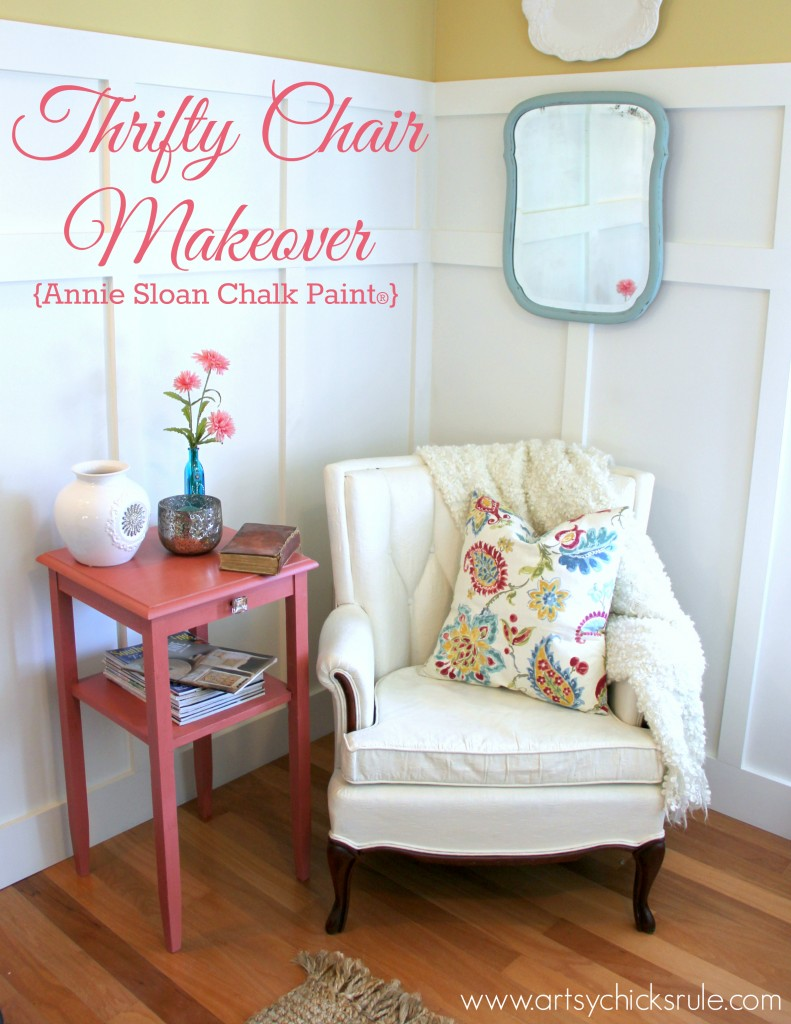 Thrifty Chair Makeover Annie Sloan Chalk Paint - artsychicksrule.com #chalkpaint