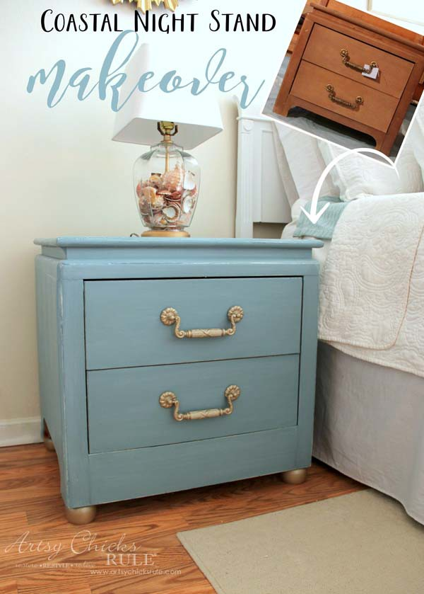 a couple of simple modifications and some chalk paint completely transformed these so