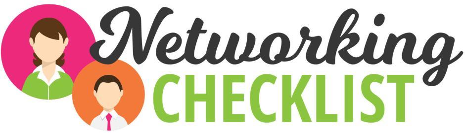 Networking Checklist