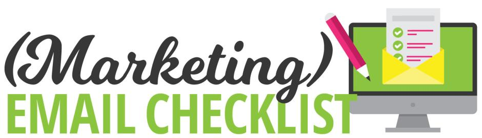 Marketing Email Checklist