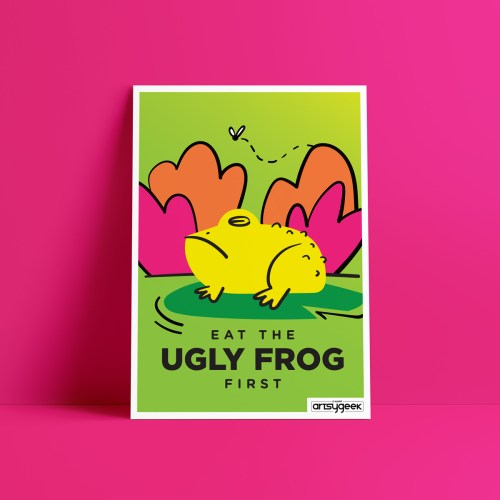 Ugly Frog Mantra Poster Freebie