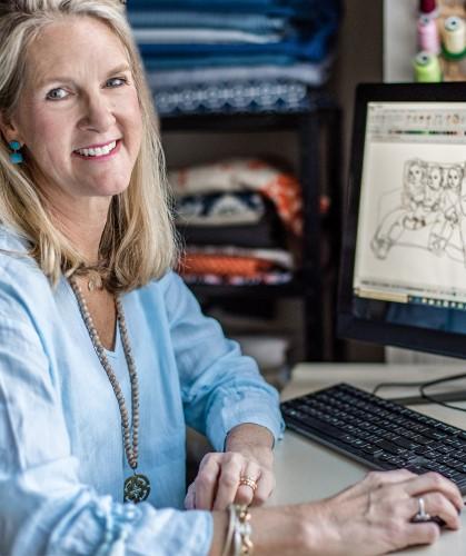 Artist Sarah Wiley in her studio