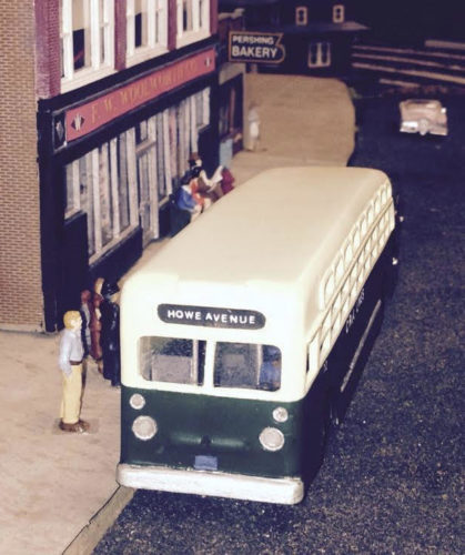 Vintage bus commission made as a scale model