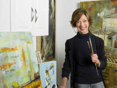 Artist Christie Marks in her studio