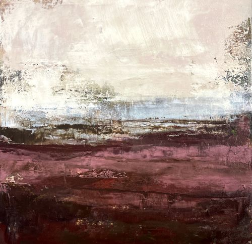 oil and cold wax painting by Brigitte Balbinot