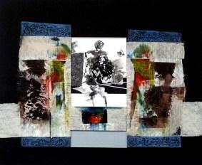 11 Tech.WŁ.Relief,akryl,karton.''Dogonić dzień'' 25cm x 30,5cm. 2015