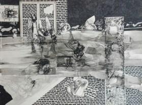 6 Rysunek ,tuszem, papier. '' Kompozycja'' 44,5cm x 34,5cm 1989