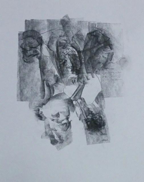 8 Pastel,karton. '' Monolog'' 24cm x 21cm. 2011