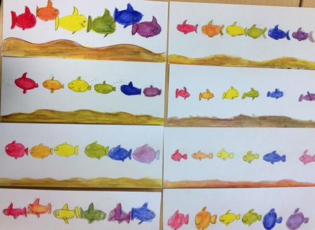 Fourth Grade Color Wheel Fish Art Teacher In LA