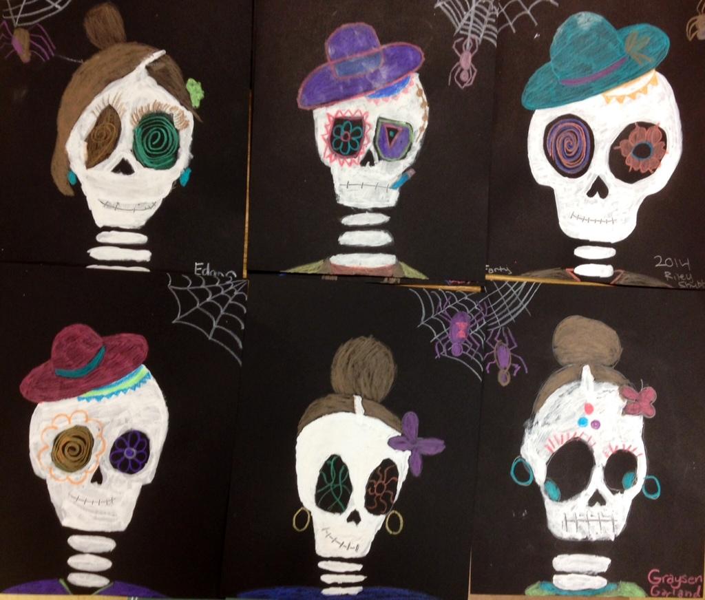 Halloween Art Painted Skeletons