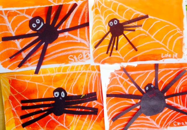 Halloween Art- Spider on a Web