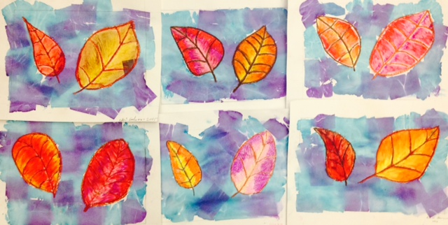 Fall Leaves Art Lesson