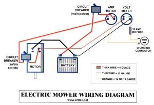 SOLAR MOWER  electrical wiring