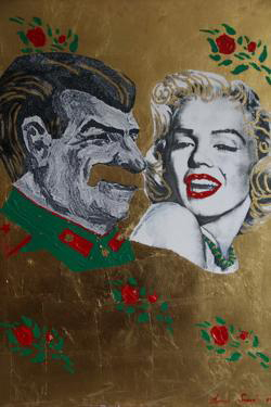 Stalin and Marilyn, canvas, oil, 86 x 99 in., 2007.