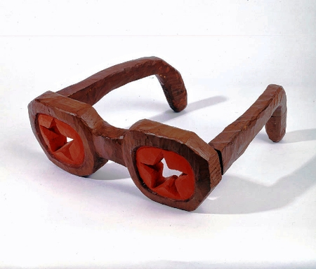 Glasses For Every Soviet Person, wood, oil, iron, 35,6 х 99,1 х 99, 1, 1976.