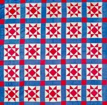 25 Block Star, c. 1930, Lancaster Co., Pennsylvania, Cotton, 83 x 84.5.