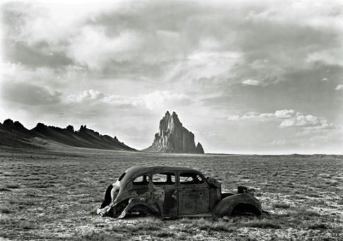 Shiprock, Gelatin silver print, 1975, William Clift.