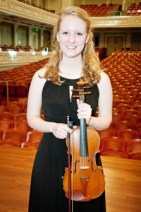 Violinist Mary Grace Johnson.