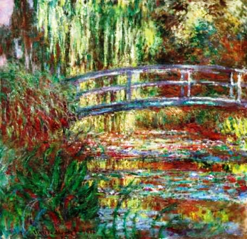 Claude Monet. The Water Lily Pond, 1900. Oil on canvas, 35 1/2 x 36 1/2 in. Museum of Fine Arts, Boston, Given in memory of Governor Alvan T. Fuller by the Fuller Foundation, 61.959. Photograph © 2013 MFA, Boston.