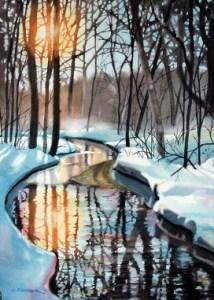 """Creek In Winter"" by Christine Fortner."