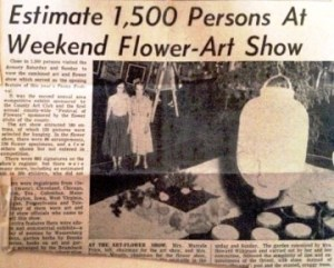 Both the Van Wert Flower Show and the Wassenberg June Art Exhibit were once held in the former Van Wert Armory. This Times-Bulletin photo is dated, June 9, 1958.
