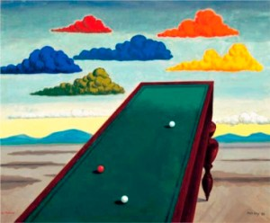 """La Fortune"", 1938, oil on canvas, 24 × 29 in., by Man Ray. Whitney Museum of American Art, New York; purchase with funds from the Simon Foundation Inc.  72.129. © 2009 Man Ray Trust / Artists Rights Society (ARS), NY / ADAGP, Paris."