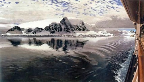 """Antarctica"", oil on canvas, 38 x 66 inches, 2007,  by Richard Estes. Courtesy Crystal Bridges Museum of American Art, Bentonville, Arkansas. Photography by Dwight Primiano. © Richard Estes, courtesy Marlborough Gallery, New York."