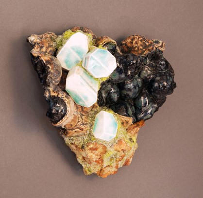 Botryoidal Petrolitite, Microline, ceramic by Renée Brown.