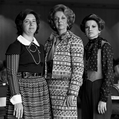 """Jane Elyse and her daughters, Lynn and Joan, Houston"", negative 1976, print 2013, from the series Jews of Houston, pigment print, by Gay Block."